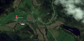 The Næve farms seen from above. | Copyright: Google maps.