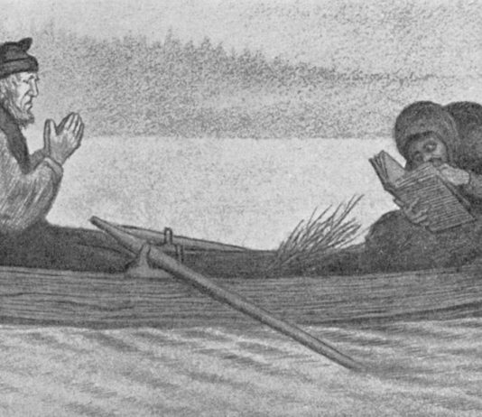 Pesta and the boatman - The Black Death. Painted 1900. | Painting by Theodor Kittelsen - wikmedia - Public Domain.