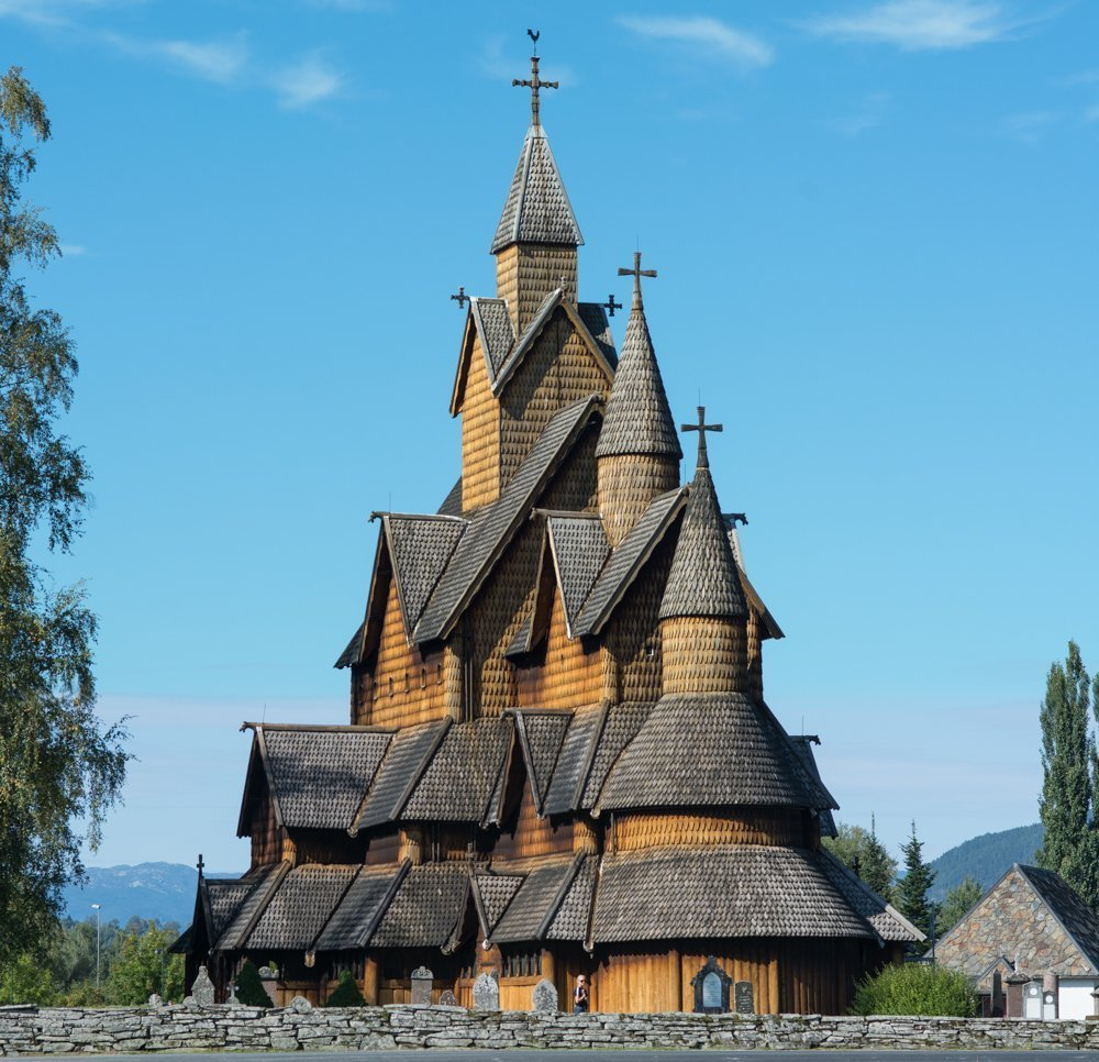 Heddal stave church in Notodden, Telemark, Norway. Estimated built in the first half of the 1200s. | Photo: Dagfinn Rasmussen - kulturminnebilder.ra.no Heddal_stor_DSC7340 - CC BY.
