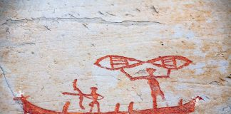 Fishing and hunting. Rock carvings from Alta, Finnmark, Norway - several thousand years old. | Photo: Oleg Kozlov - adobe stock - copyright.