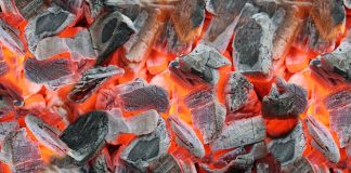 Glowing embers.   Photo: dederer - adobe stock - copyright.