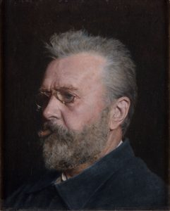 Carl Fredrik Sundt-Hansen. Self portrait - oil painting - 1906. | Photo: Stavanger kunstmuseum - digitalmuseum.no SG.0062 - public domain.