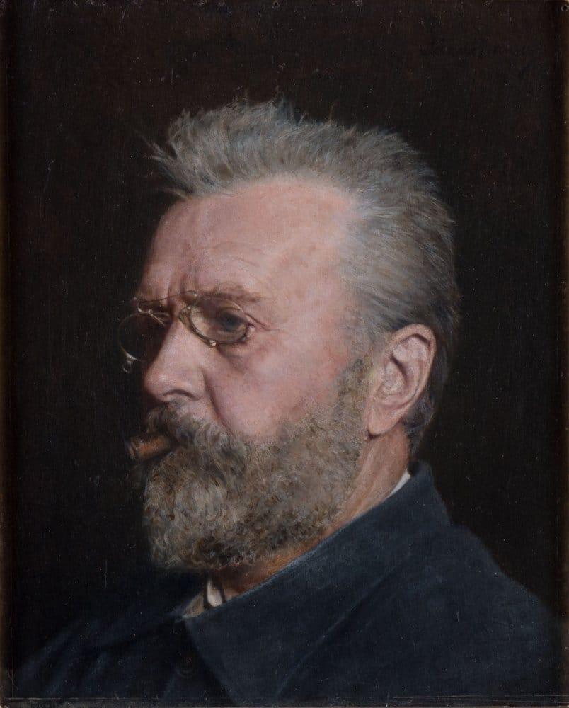 Carl Fredrik Sundt-Hansen. Self portrait - oil painting - 1906.   Photo: Stavanger kunstmuseum - digitalmuseum.no SG.0062 - public domain.