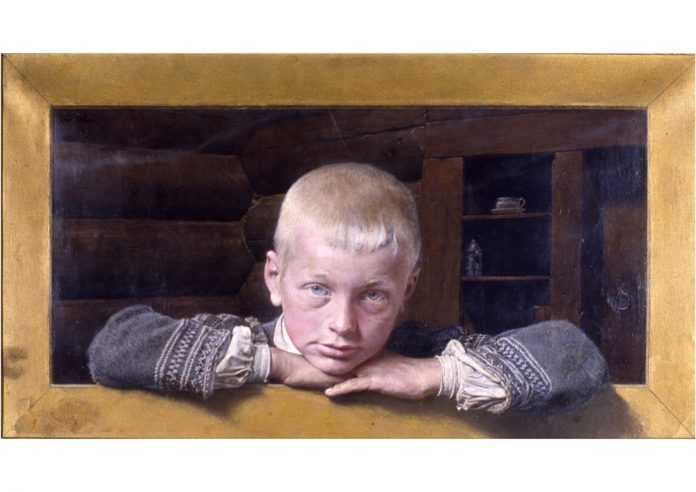 «Boy from Setesdal» - oil painting by Carl Fredrik Sundt-Hansen from 1904. The model is said to be Aanund Aanundson Rike. | Photo: Stavanger kunstmuseum - digitaltmuseum.no SG.0214 - public domain.