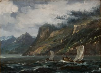 Oil painting by Johan Christian Dahl (1788-1857). From the collections of the KODE Museum in Bergen.   Photo: Dag Fosse - digitaltmuseum.no BB.M.00624 - public domain.