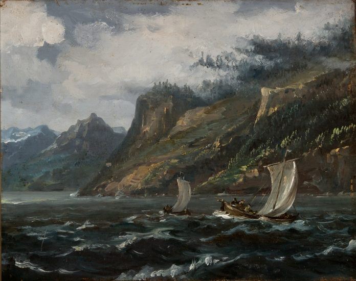 Oil painting by Johan Christian Dahl (1788-1857). From the collections of the KODE Museum in Bergen. | Photo: Dag Fosse - digitaltmuseum.no BB.M.00624 - public domain.