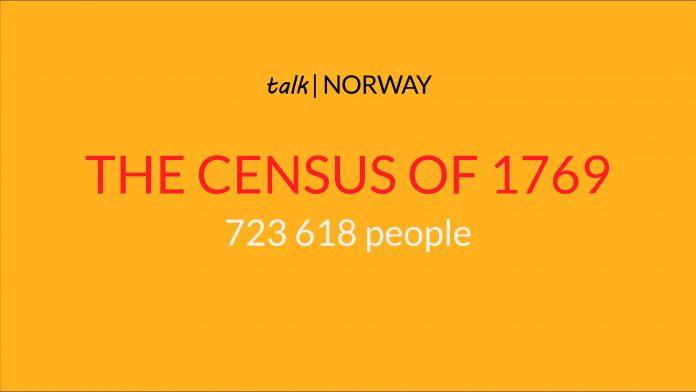 Illustration - Norway census 1769