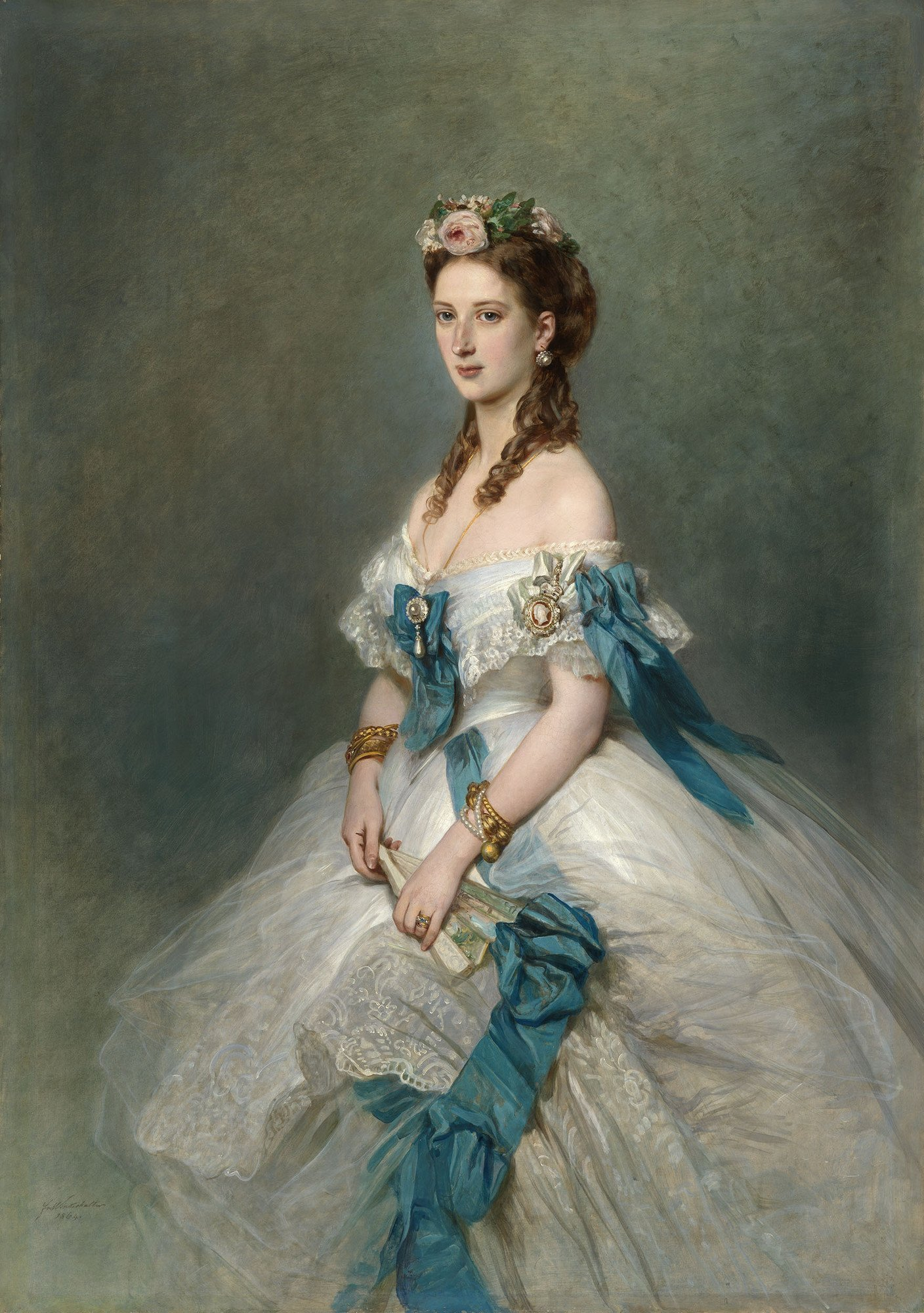 Alexandra of Wales in 1864. | Painting: Franz Xaver Winterhalter - Royal Collection Trust wikimedia cc pdm.