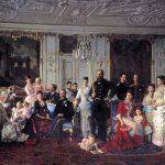 The extended Danish royal family gathered at Fredensborg Palace. | Painter: Laurits Tuxen - Amalienborg Museum cc pdm.