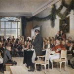 The 1814 constitution assembly. Painting by Oscar Wergeland. | Photo: Teigens Fotoatelier A/S - Stortinget cc pdm.