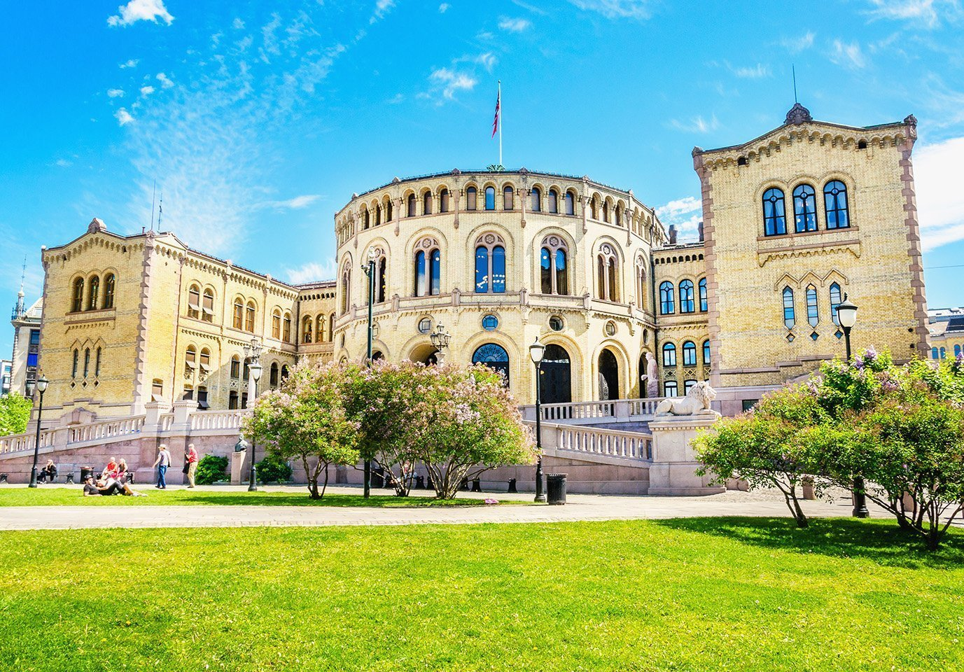 The parliament building in Oslo, Stortinget. | © A. Jedynak - stock.adobe.com.