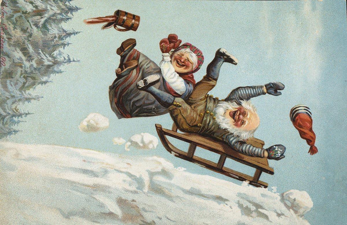 The joyful spirit of Christmas. | Artist: Wilhelm Larsen - Damm nb.no cc pdm.