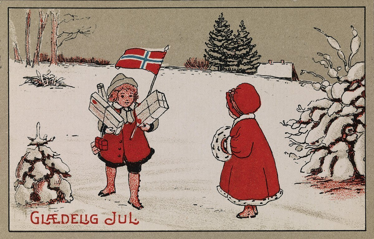 Merry Christmas from Norway. | Artist unknown - nb.no cc pdm.