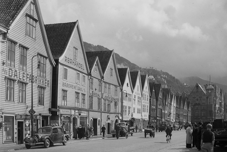 «Bryggen» in Bergen, Norway. | Photo: Mittet & Co. AS - nb.no cc pdm.