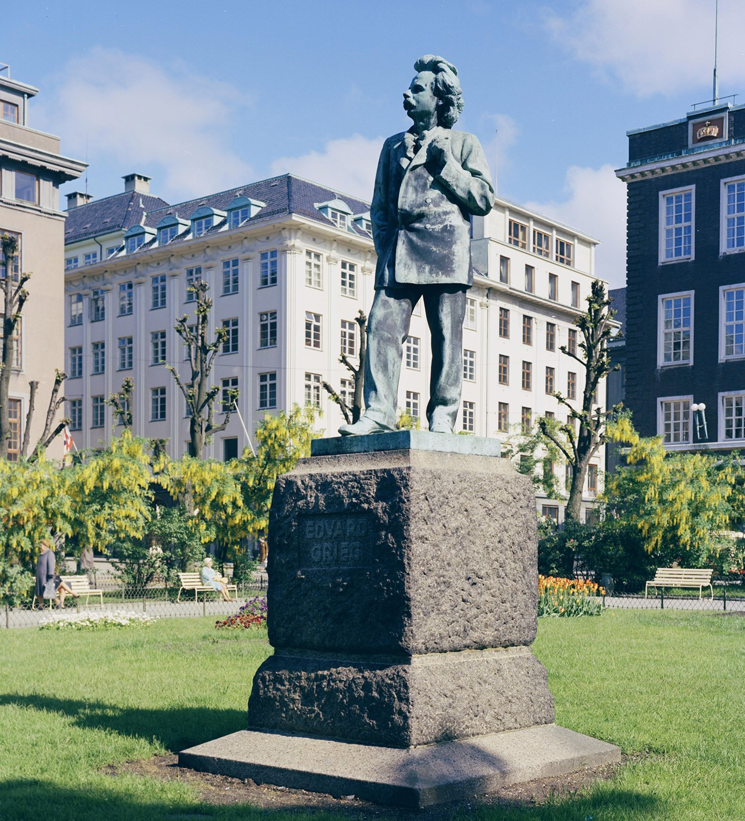 Statue of Edvard Grieg. | Photo: Mittet & Co. AS - nb.no cc pdm.