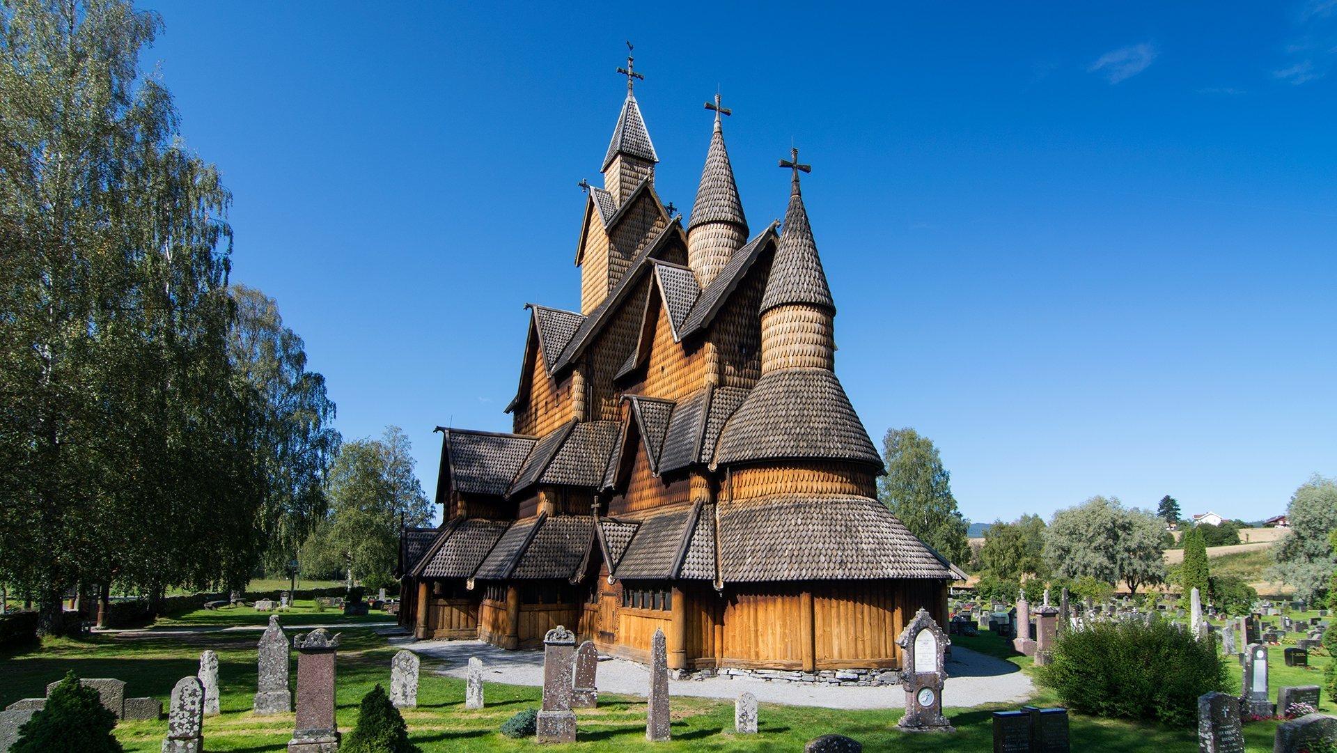 The Heddal stave church in Notodden, Telemark, Norway. | Photo: Dagfinn Rasmussen - Riksantikvaren cc by.