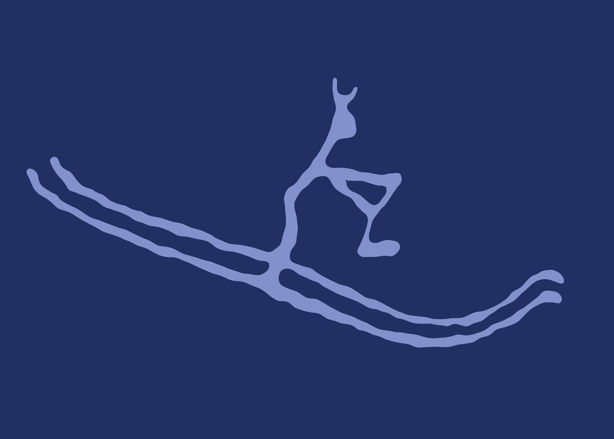 The Rødøy skier - rock carving from 2000 BC - Rødøy, Nordland, Norway. | Illustration: Based on a stamp published by Posten Norge.